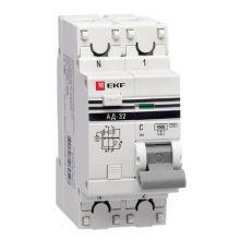 АД-32 1P+N 10А/30мА (хар. C, AC, электронный, защита 270В) 4,5кА EKF PROxima