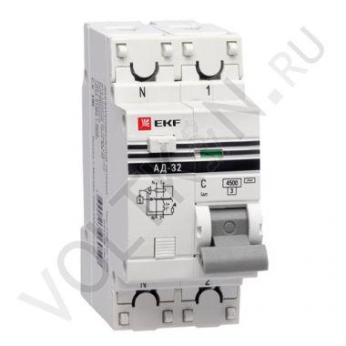 АД-32 1P+N 63А/30мА (хар. C, AC, электронный, защита 270В) 4,5кА EKF PROxima