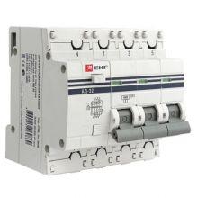 АД-32 3P+N 25А/30мА (хар. C, AC, электронный, защита 270В) 4,5кА EKF PROxima