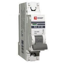 Выключатель автоматический, однополюсный ВА 47-63,1P 16А (С) 4,5kA EKF PROxima