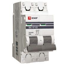 Выключатель автоматический, двухполюсный ВА 47-63,2P 50А (С) 4,5kA EKF PROxima