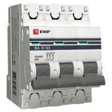 Выключатель автоматический, трехполюсный ВА 47-63,3P 32А (С) 4,5kA EKF PROxima