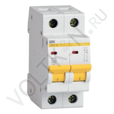 Выключатель автоматический, двухполюсный ВА 47-29, 2P 32А (С) 4,5kA IEK