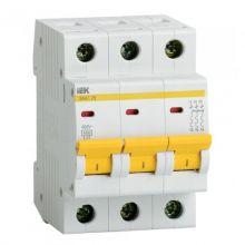 Выключатель автоматический, трехполюсный ВА 47-29, 3P 25А (С) 4,5kA IEK