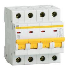Выключатель автоматический, четырехполюсный ВА 47-29, 4P 25А (С) 4,5kA IEK