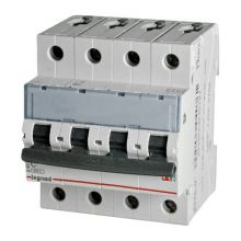 Выключатель автоматический, четырехполюсный TX3 4P 25А С 6кА Legrand