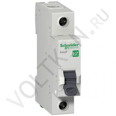 Выключатель автоматический, однополюсный Easy9 1P 10А С 4,5кА Schneider Electric