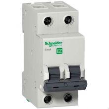 Выключатель автоматический, двухполюсный Easy9 2P 10А С 4,5кА Schneider Electric