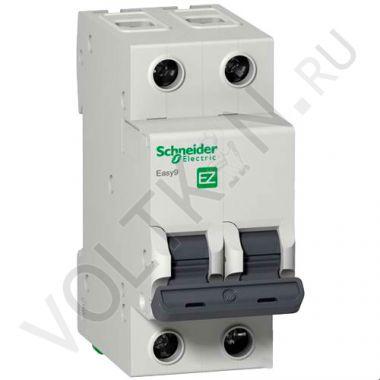 Выключатель автоматический, двухполюсный Easy9 2P 50А С 4,5кА Schneider Electric