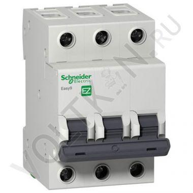 Выключатель автоматический, трехполюсный Easy9 3P 16А С 4,5кА Schneider Electric