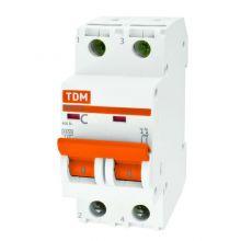 Выключатель автоматический, двухполюсный ВА47-29 2P 16А (C) 4,5kA TDM