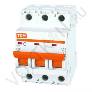 Выключатель автоматический, трехполюсный ВА47-29 3P 32А (C) 4,5kA TDM