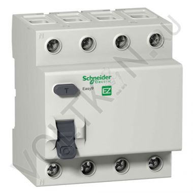 УЗО Easy9 4P 25А/30мА AC 230В Schneider Electric