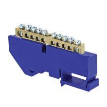 Шина нулевая N 63.10 изолятор на DIN-рейку (латунь) EKF PROxima