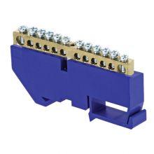 Шина нулевая N 63.12 изолятор на DIN-рейку (латунь) EKF PROxima