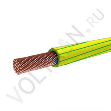 Провод ПуГВ (ПВ-3) 1х10 желто-зеленый