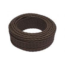 Витой провод (ретро) 2х1,5 коричневый Bironi