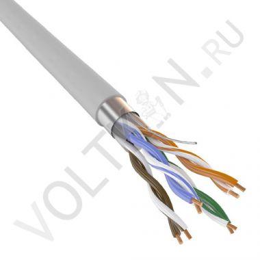 Кабель FTP 4PR 24AWG Cat. 5e (витая пара) PVC серый Паритет