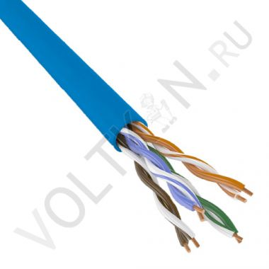 Кабель UTP 4PR 23AWG Cat. 6 (витая пара) PVC голубой Legrand