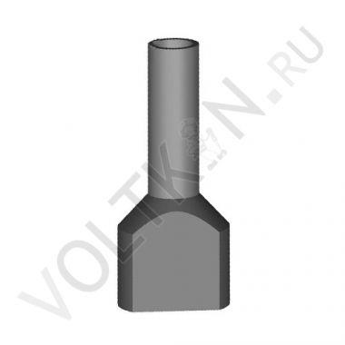 Наконечник штыревой втулочный изолированный двойной НШВИ(2) 0,75-8 КВТ