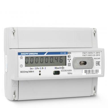 Счетчик электроэнергии Энергомера СЕ300 R31 145 J 3х фазный, 1 тарифный, ЖКИ (5-60А)