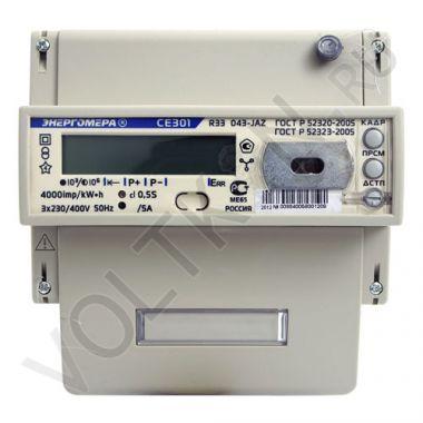 Счетчик электроэнергии Энергомера СЕ 301 R33 043 JAZ 3х фазный, 2х тарифный, ЖКИ (5-10А)