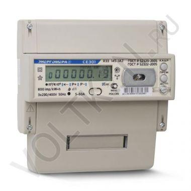 Счетчик электроэнергии Энергомера СЕ 301 R33 145 JAZ 3х фазный, 2х тарифный, ЖКИ (5-60А)