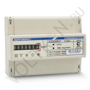 Счетчик электроэнергии Энергомера ЦЭ6803В М7 Р31 3х фазный, 1 тарифный, Эл.мех (5-60А)