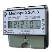Счетчик электроэнергии Меркурий 201.8 1 фазный, 1 тарифный, ЖКИ (5-80А)