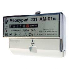 Счетчик электроэнергии Меркурий 231 АМ-01ш 3х фазный, 1 тарифный, Эл.мех (5-60А)