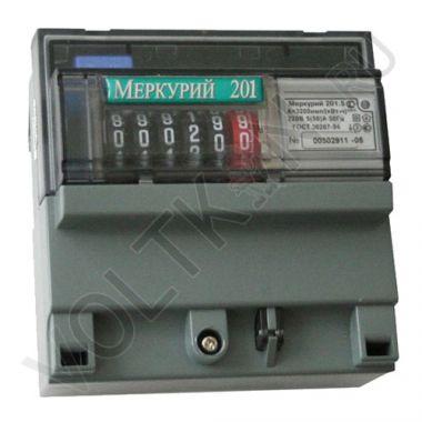 Счетчик электроэнергии Меркурий 201.5 1 фазный, 1 тарифный, Эл.мех (5-60А)