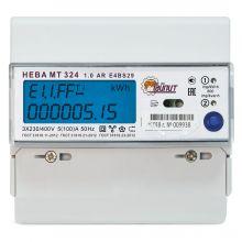 Счетчик электроэнергии Нева MT 324 1.0 AR E4BS29 3-фазный, многотарифный, ЖКИ (5-100А) Тайпит