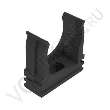 Крепёж-клипса для гофрированных труб d25 мм черная Промрукав