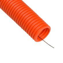 Труба гофрированная ПНД d16 мм оранжевая, легкая, с протяжкой Промрукав