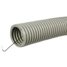 Труба гофрированная ПВХ d20 мм серая, легкая, с протяжкой Промрукав