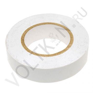 Изолента ПВХ 130х15х18 белая, глянцевая ПолимерПак