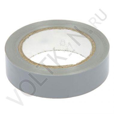 Изолента ПВХ 130х15х18 серая, глянцевая ПолимерПак