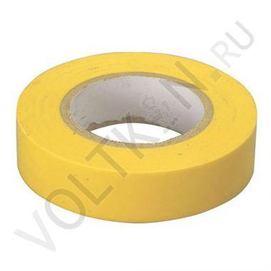 Изолента ПВХ 130х15х18 желтая, глянцевая ПолимерПак