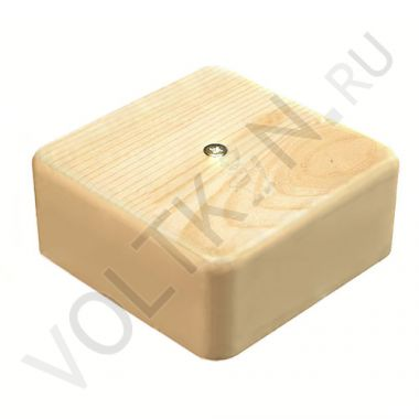 Коробка распределительная для к/к сосна 75х75х28мм GreenEl