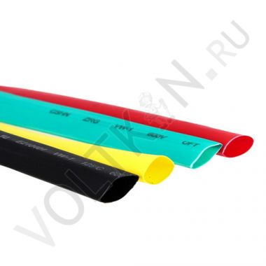 Термоусаживаемая трубка ТУТ 6/3 желто-зеленая EKF PROxima
