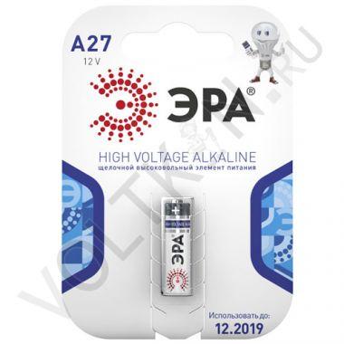 Батарейка A27 Alkaline 12В (1 шт.) Эра