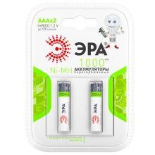 Аккумулятор ААА HR03 1000mAh 1,2В (2 шт.) Эра
