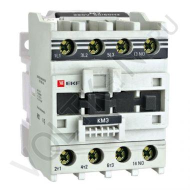 Контактор КМЭ малогабаритный 32А катушка управления 220В 1NO EKF PROxima