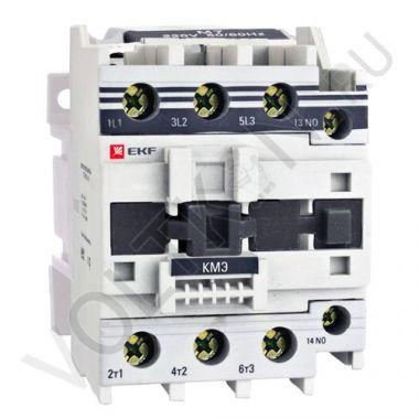 Контактор КМЭ малогабаритный 50А катушка управления 220В 1NO+1NC EKF PROxima