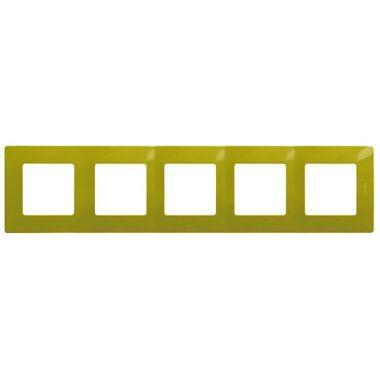 Рамка Etika 5 постов, зеленый папоротник Legrand