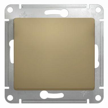 Выключатель 1-клавишный 10А механизм Glossa, титан Schneider Electric