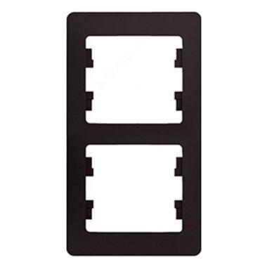 Рамка Glossa 2-постовая, вертикальная, шоколад Schneider Electric