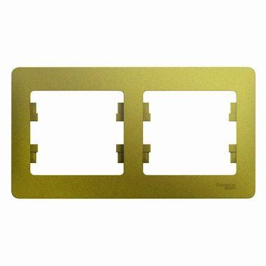 Рамка Glossa 2-постовая, горизонтальная, фисташковый Schneider Electric