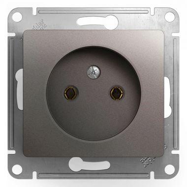 Розетка без заземления 16А механизм Glossa, платина Schneider Electric