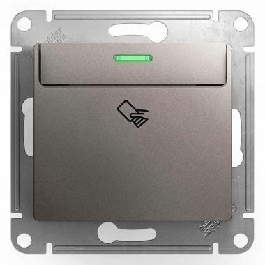 Карточный выключатель механизм Glossa, платина Schneider Electric